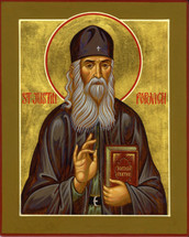 Icon of St. Justin (Popovich) of Serbia - (SJP12)
