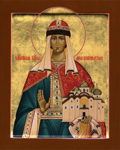 Icon of St. Anna, Princess of Novgorod - (1AN45)