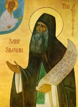 Icon of St. Silouan the Athonite - 20th c. Russian - (1SI22)