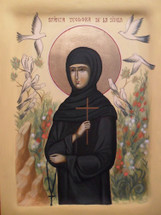 Icon of St. Theodora of Sihla - 20th c. - (1TH07)