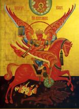 Icon of the Archangel Michael of the Apocalypse - 20th c. - (1MI08)