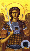 icon of the Archangel Michael - by Photios Kontoglou - 20th c. - (1MI23)