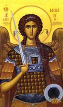 icon of the Archangel Michael - by Photios Kontoglou - 20th c. - (1MI23)