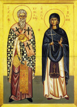 Icon of Sts. Cyprian & Justina - 20th c. (1CJ10)