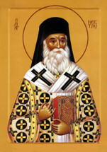 Icon of St. Nektarios - 20th c. Serbian - (1NE13)