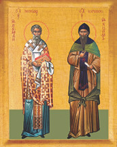 Icon of Sts. Cyril and Methodius - 20th Cent. - (1CM10)