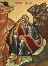 Icon of the Prophet Elijah (sitting) - (1EL20)