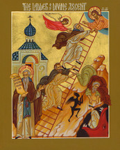 Icon of the Ladder of Divine Ascent - 20th c. - (11E41)