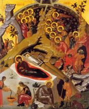Icon of the Nativity of the Lord (Christmas) - 17th c. Dionysiou Monastery  - (11A10)