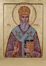 Icon of St. Nektarios - 20th c. Greek - (1NE14)