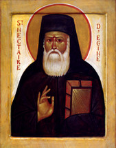Icon of St. Nektarios - French - (1NE15)