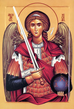 Icon of the Archangel Michael - 20th c. Serbian (1MI24)