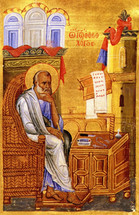 Icon of St. John the Theologian - 13th c. - Patmos (1JT16)