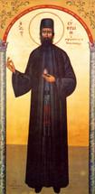 Icon of St. Ephraim of Nea Makri  (under arch)  - (1EP22)