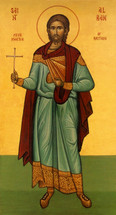 Icon of St. Alban Proto Martyr of Britain - 20th c. (1AL01)