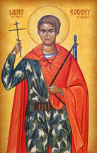 Icon of the New Martyr Evgeny of Chechnya - (1EU21)