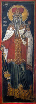 Icon of the Prophet Samuel 16th c. Athos - (1SA15)
