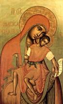 """Icon of the Theotokos """"Eleusa-Kiksk"""" - 17th c. - Moscow (12H33)"""