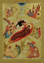 Icon of the Nativity of the Lord (Christmas) - 20th c. - (11A11)
