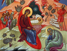 Icon of the Nativity of Our Lord (Christmas) - (11A14)
