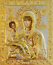Icon of the Theotokos of the Three Hands - 20th c. New Gracanica - (12G69)