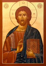 Icon of Christ the Almighty - 20th c. Ellwood City - (11S33)