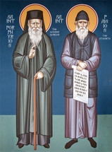 Icon of Sts. Porphyrios & Paisios the Athonite (1NC14)