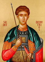 Icon of St. Demetrios (English) - 20th c. - (1DE13)