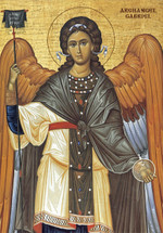 Icon of the Archangel Gabriel, Byzantine - (1GA16)