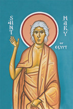 Icon of St. Mary of Egypt - (fresco) - (1MA75)