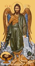 Icon of St. John the Baptist - Greek, 20th c. - (1JB09)