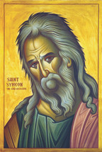 Icon of the Righteous Symeon the God Receiver - English - (1SY32)