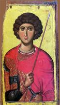 Icon of St. George - 14th c. Vatopedi - (1GE09)