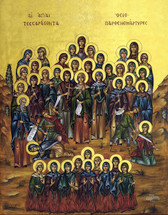 Icon of The 40 Virgin Martyrs of Thrace - (1VM10)