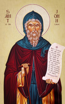 Icon of St. John of the Ladder - 20th c. Athonite - (1JL12)
