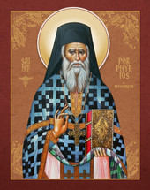 Icon of St. Porphyrios of Kavsokalivia (polystavroi vestments)  - (1PO13)