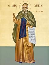 Icon of St. Sabbas the Sanctified - 20th c. - (1SA12)