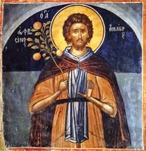 Icon of St. Euphrosynos the Cook - 15th c. Meteora - (1EU26)
