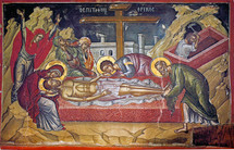 Icon of the Lamentation at the Tomb, 16th c. - (11J17)