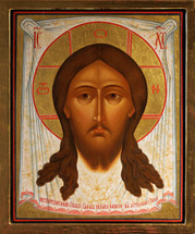 "Icon of Christ, ""Made without Hands"" (Holy Napkin) - 17th c. Russian, - (11R14)"