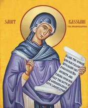 Icon of St. Kassiani (Cassiani) - 20th c. - (1KS20)