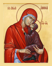 Icon of St. Anna and the Theotokos (Athonite) - (1AN46)