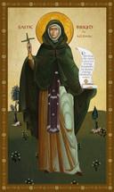 Icon of St. Brigid of Kildare - 20th c. - (1BR10)