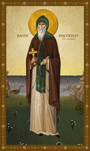 Icon of St. Brendan the Voyager - 20th c. - (1BR20)