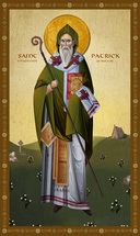 Icon of St. Patrick, Enlightener of Ireland - 20th. c - (1PA60)