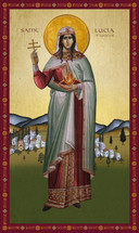 Icon of St. Lucia of Syracuse - (1LU40)