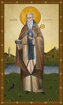 Icon of St. Kevin of Glendalough - (1KE09)
