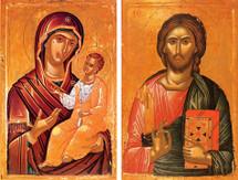 Icon Set: Stavronikita Christ and Theotokos - (MCT00)