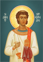 Icon of St. Stephen First Martyr - (fresco) - (1ST10)