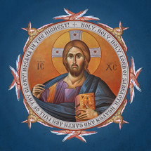 Icon of Christ the Pantocrator - (English). - (11S40)